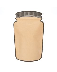 "5 1/8"" x 3"" x 8 1/8"" (Outer Dims) Kraft Mason Jar Zipper Pouch (100 Pieces) [SP3KZ]"