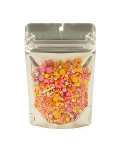 Food safe matte gold zipper pouch