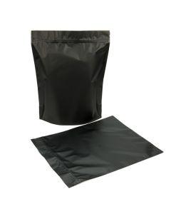 Black stand up zipper pouch bag