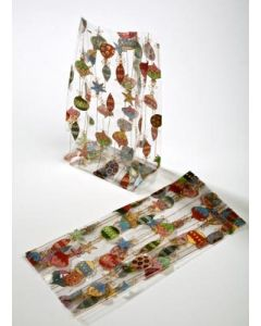 """5"""" x 3"""" x 11 1/2"""" Merry Ornaments Printed Gusset Bags, 1.2 Mil (100 Pieces) [G5ORN]"""