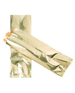 Metallic shimmer gold flat bags