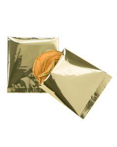Square metallic flat sealable bags