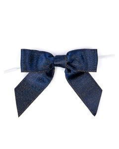 """3 1/2"""" Metallic Midnight Pre-tied Bow (25 Pieces) [MBOWM]"""