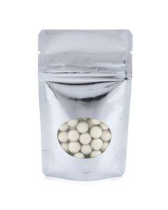 Food safe shiny silver zipper pouch
