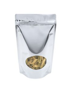 Food safe stand up pouch with oval window