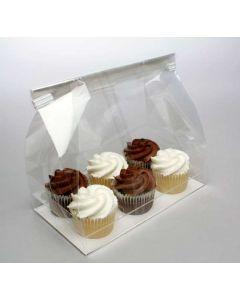 Cupcake bag w/paper bottom for 6 minis