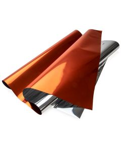 "orange metallic gift wrap - 18"" x 32"""