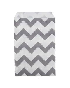 "5"" x 8"" Paper Treat Bags, Chevron Stripes (100 Pieces) [GPB58CS]"