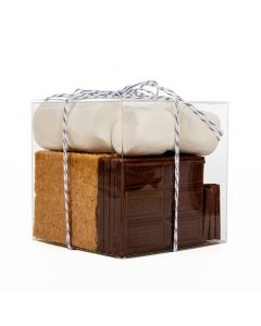 Crystal Clear Cube Box with Smores Kit