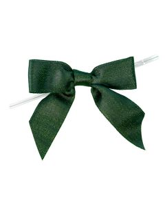 """3 1/2"""" Metallic Spruce Pre-tied Bow (25 Pieces) [MBOWSP]"""