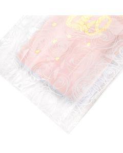 "rose patter flat bottom gusset - 3 1/2"" x 2"" x 7 1/2"""
