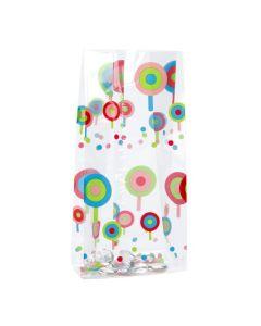 Standing lollipop gusset bag