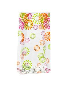 """4"""" x 2 1/2"""" x 9 1/2"""" Blooming dots gusset bags"""