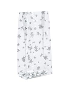 Standing silver star treat bag