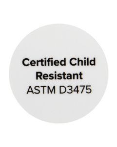 """1"""" Round Printed Labels, Certified Child Resistant (Sheet of 25) [LS1CCR]"""