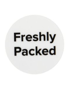 """1"""" Round Printed Labels, Freshly Packed (Sheet of 25) [LS1FP]"""