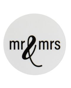 "1 1/2"" Round Printed Labels, Mr & Mrs (Sheet of 25) [LS1HMMW]"