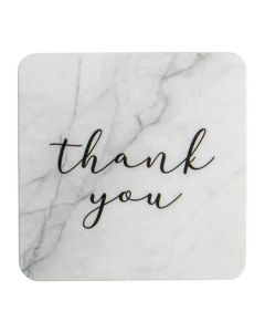 """1 1/2"""" Rounded Square Printed Labels, Thank You (Sheet of 25) [LS1HMTY]"""