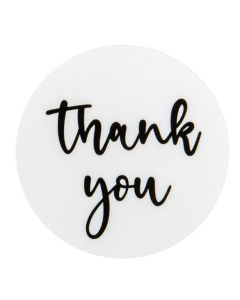 """1 1/2"""" Round Printed Labels, Thank You (Sheet of 25) [LS1HWTY]"""