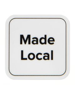 """1"""" Rounded Square Printed Labels, Made Local (Sheet of 25) [LS1ML]"""