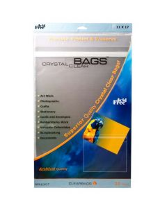 """11 7/16"""" x 17 1/4"""" Crystal Clear Protective Closure Bags Retail Pack of 25 (1 Pack) [RPA11X17]"""