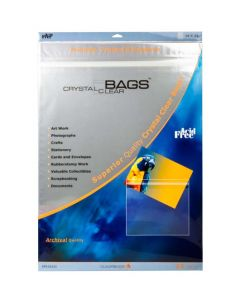 """18 7/16"""" x 24 1/4"""" Crystal Clear Protective Closure Bags Retail Pack of 25 (1 Pack) [RPA18X24]"""