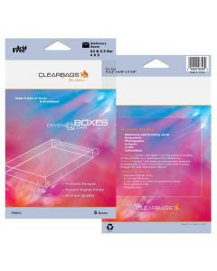 """5 3/8"""" x 5/8"""" x 7 3/8"""" Crystal Clear Boxes® Pack of 5 (1 Pack) FPB119 [RSBA7]"""