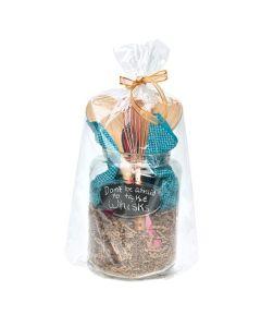 clear gift basket bag | 14 x 24