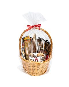 "clear round bottom gift basket bag 20"" x 30"""