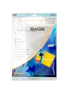 "12 7/16"" x 16 1/4"" Clear bags with adhesive strip"