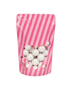 Pink food safe pouch with hearts