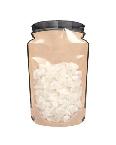 food safe mason jar shaped pouch with clear front