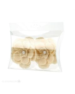 Flowers in side hanging pillow box