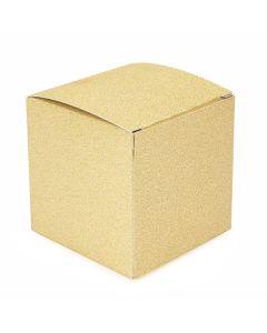 """3"""" x 3"""" x 3"""" Gold glitter box"""