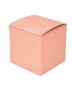 "3"" x 3"" x 3"" Rose Gold Glitter Box"