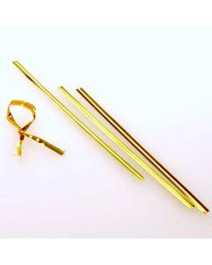 """4"""" x 5/32"""" Gold Metallic Plastic Twist Tie (1000 pack) [TT4MG]"""