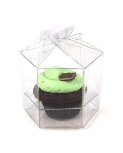 Twist top cupcake box for single