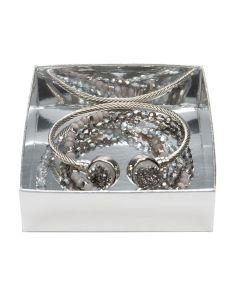 shimmer silver box bottom