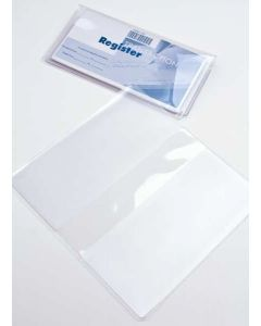 """6 1/4"""" x 6 3/4"""" Clear Checkbook Cover (10 Pieces) [VINCHK]"""