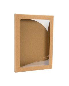 """4 7/8"""" x 1/2"""" x 6 5/8"""" Kraft paper box"""