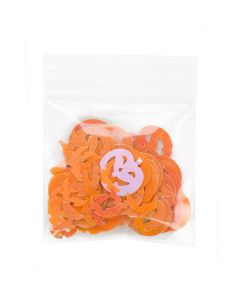 Zipper bag with pumpkin confetti