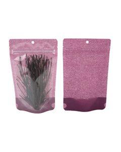 Food safe harvest purple rice paper zipper bag