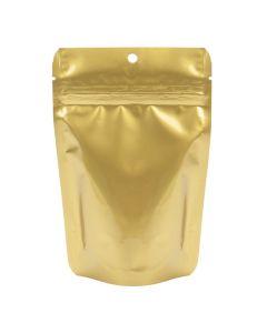 "4"" x 6"" gold metallized zipper bag | 2 oz"