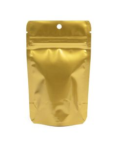 hanging metallized gold stand up pouch