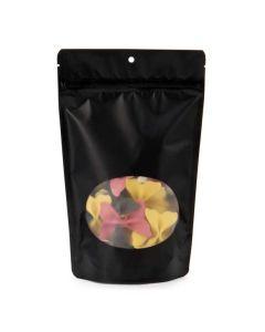 Oval window zipper bag with pasta