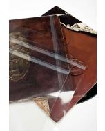 Crystal clear album sleeve with adhesive closure