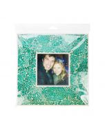 Clear hanging flap seal bag with picture frame