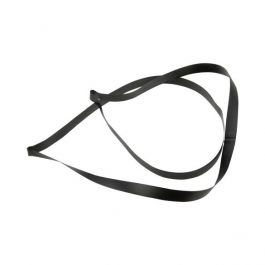 "20"" Black Vinyl Stretch Loop (50 Pieces) [20CVLBK] - CLEARANCE"