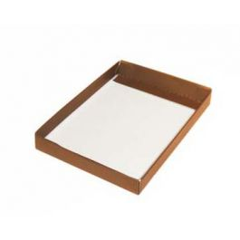 """3 3/4"""" x 1"""" x 5 3/8"""" Copper Paper Box Bottom (25 Pieces) [CP31] - CLEARANCE"""