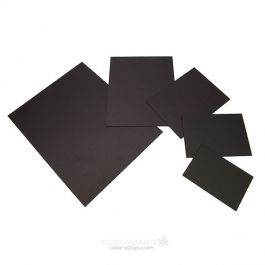 "8 1/2"" x 11"" ClearBags® 4-Ply Black Backing Board (25 Pieces) [BACI811]"